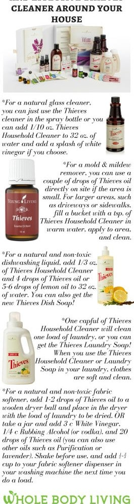 how to use thieves cleaner around the house