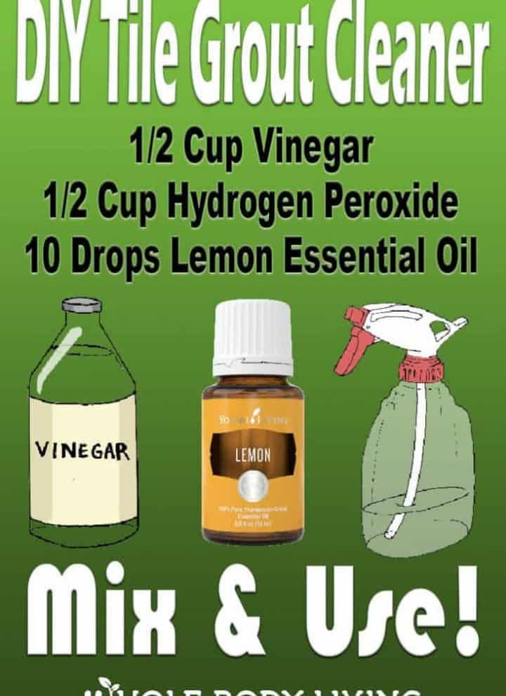 DIY Tile Cleaner recipe for pinterest how to clean grout with vinegar