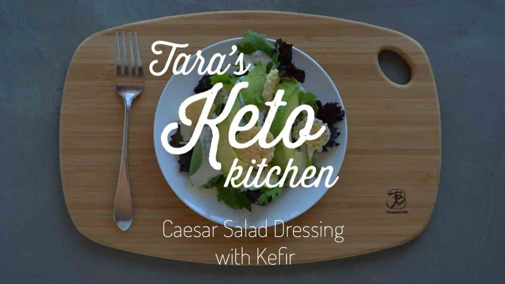 Keto Caesar Salad Dressing with Kefir