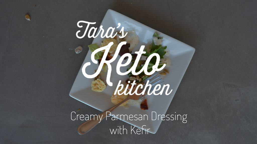 Creamy Garlic Parmesan Salad Dressing with Kefir