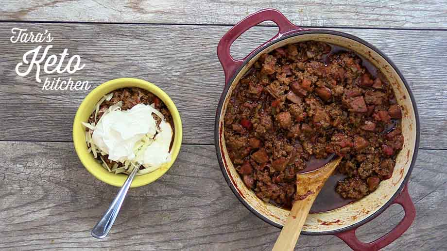 meaty keto chili