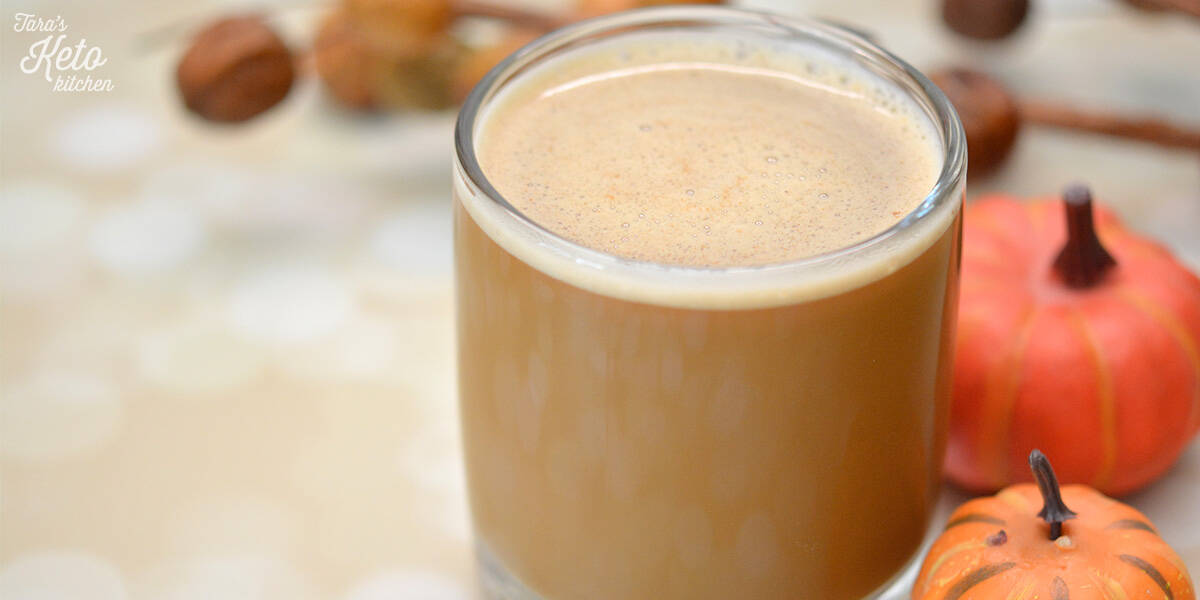 Dairy Free Pumpkin Spice Keto Coffee Creamer on a cup