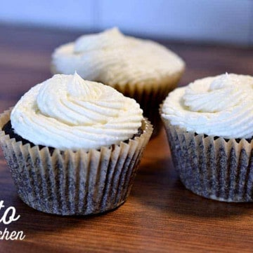 keto dark chocolate cupcake