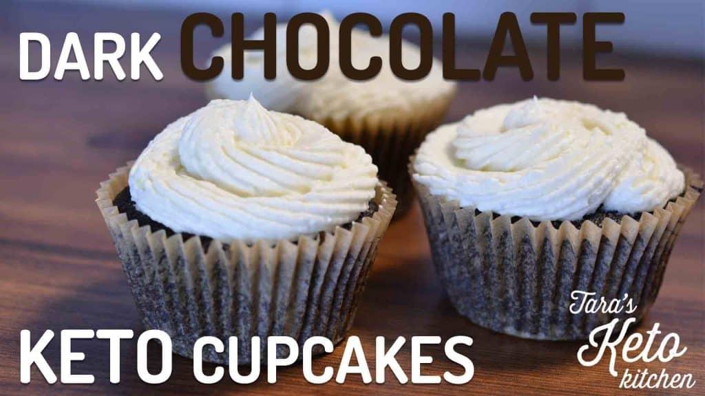 low carb dark chocolate cupcake keto cupcake