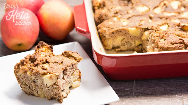slice of Grain Free Apple Cake