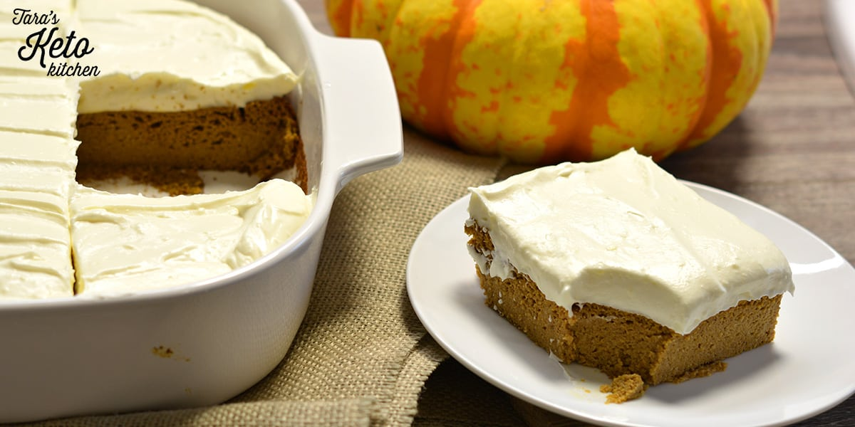 sliced keto pumpkin bars on plate