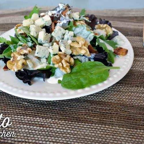 keto blue cheese dressing on salad