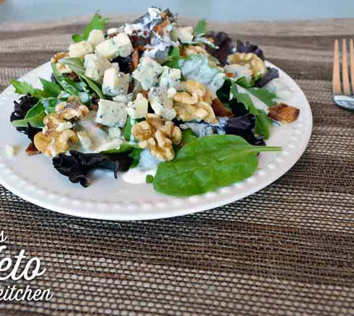 keto blue cheese dressing on salad