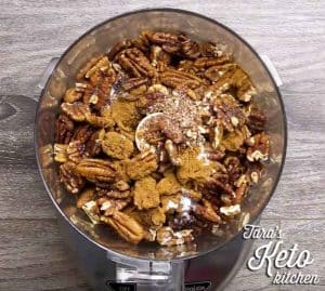 keto maple pecan nut butter before mixing