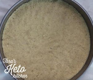 Keto Cheesecake Crust ready to bake