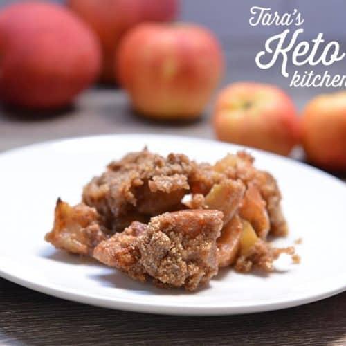 Low Carb Apple Crisp on plate