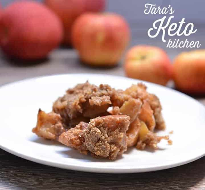 Low Carb Apple Crisp on plate