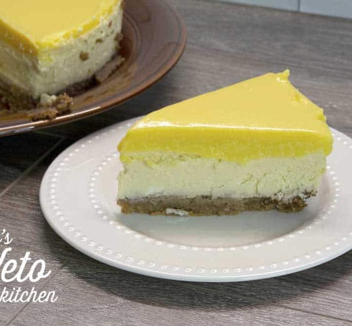 keto lemon curd cheesecake