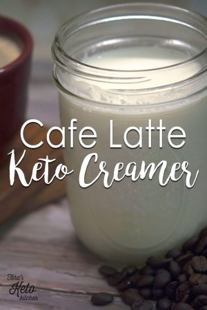 Cafe Latte Keto Creamer and coffee