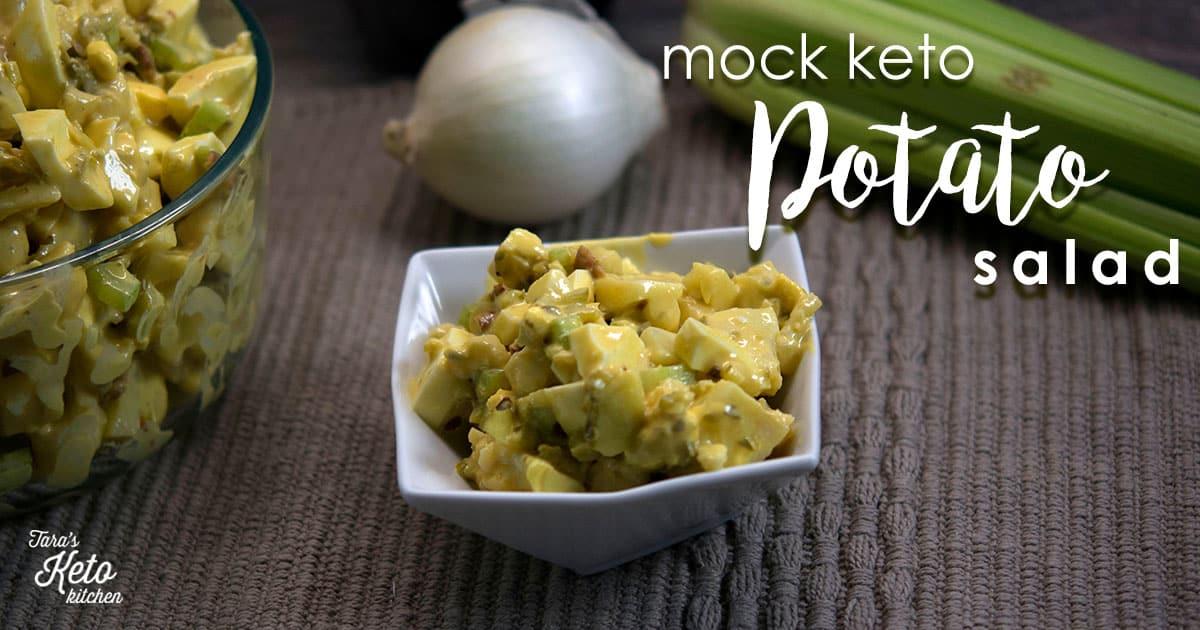 Mock Keto Potato Salad on a plate