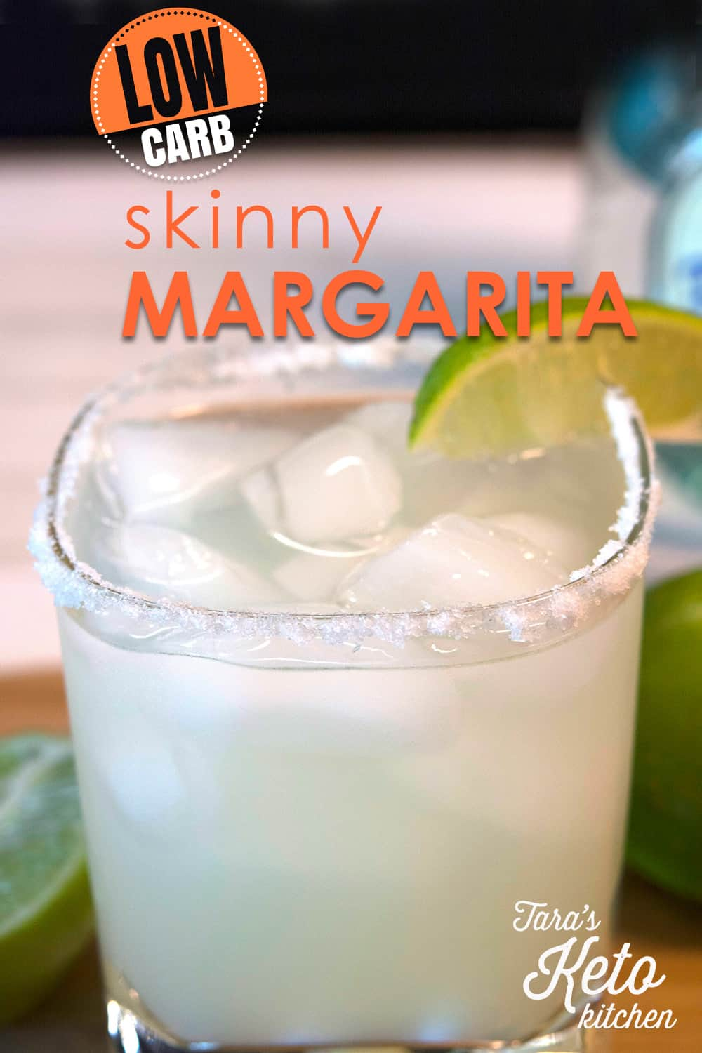 Low Carb Margarita with title
