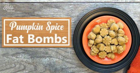 Pumpkin Spice Fat Bombs on a plate