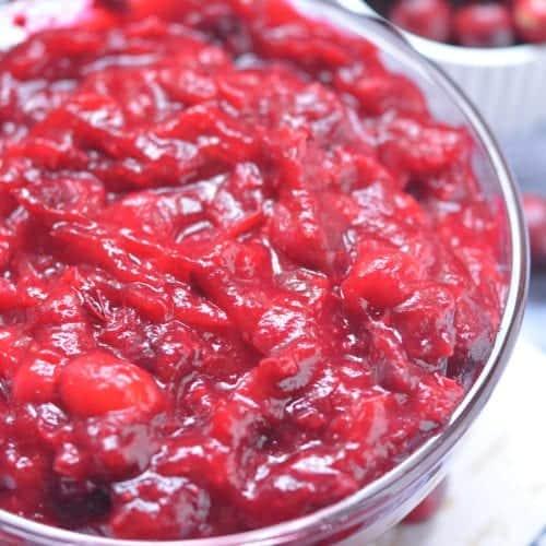 no sugar added keto cranberry sauce photo 3