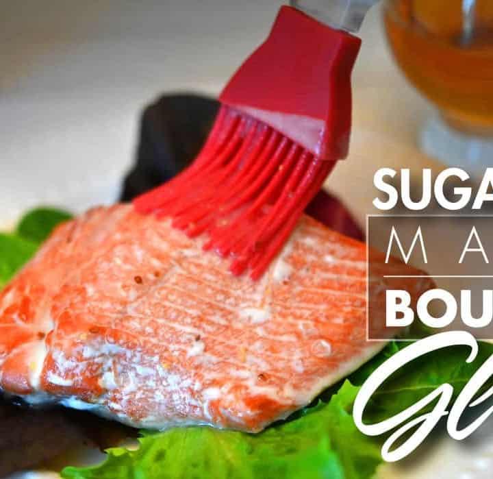 Sugar Free Maple Bourbon Glaze 2_Blog post 600 x 335
