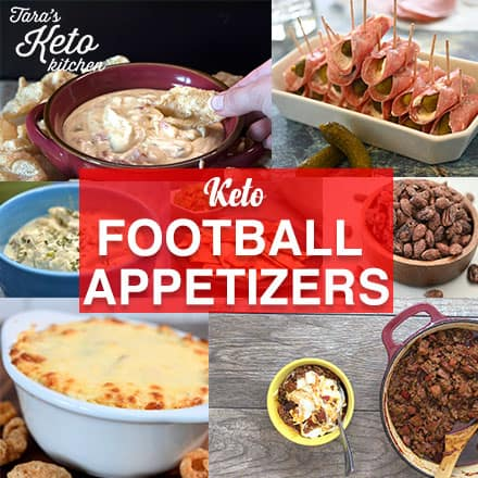keto football appetizer square graphic
