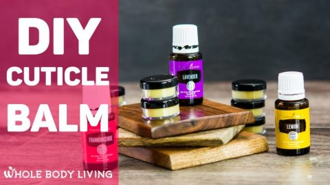 diy cuticle balm shown stacked on top of each other