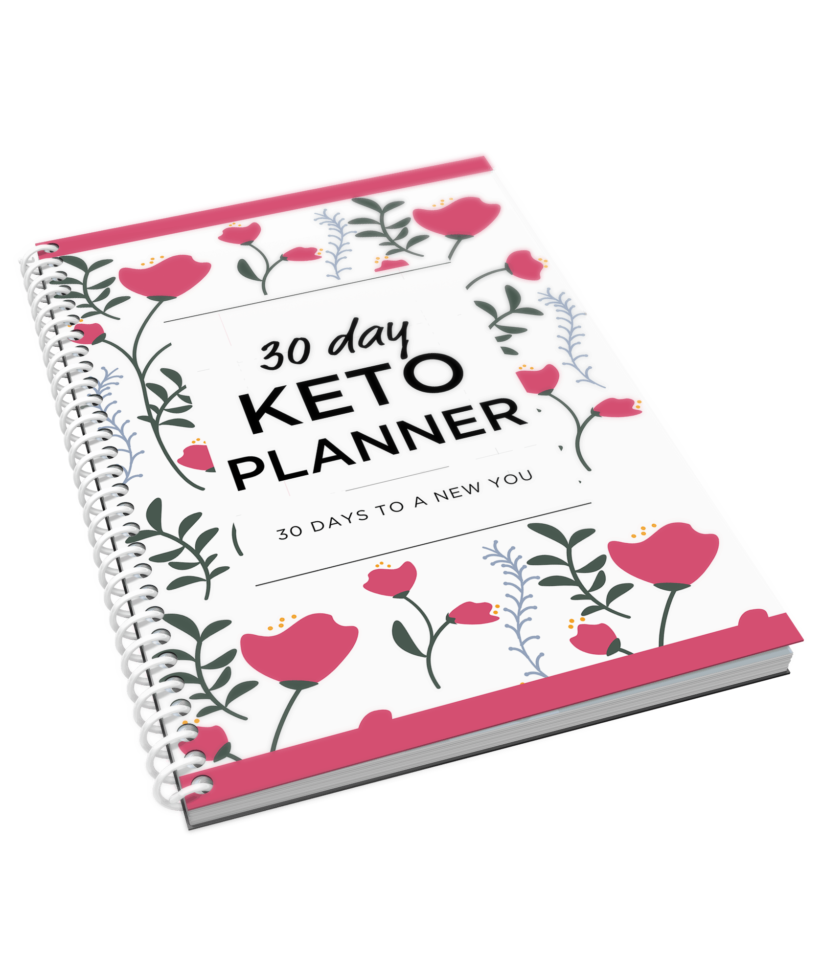 30 day keto planner cover