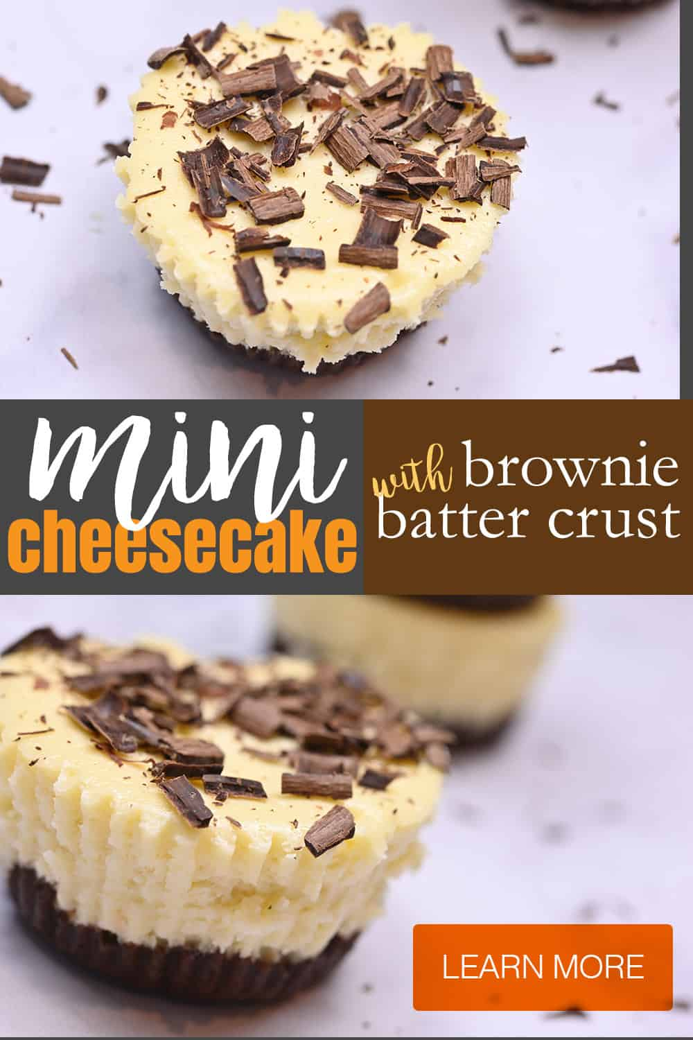 keto mini cheesecake with brownie batter crust image for p interest