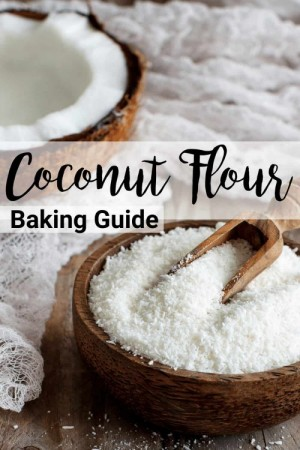 coconut flour baking guide pinterest header graphic