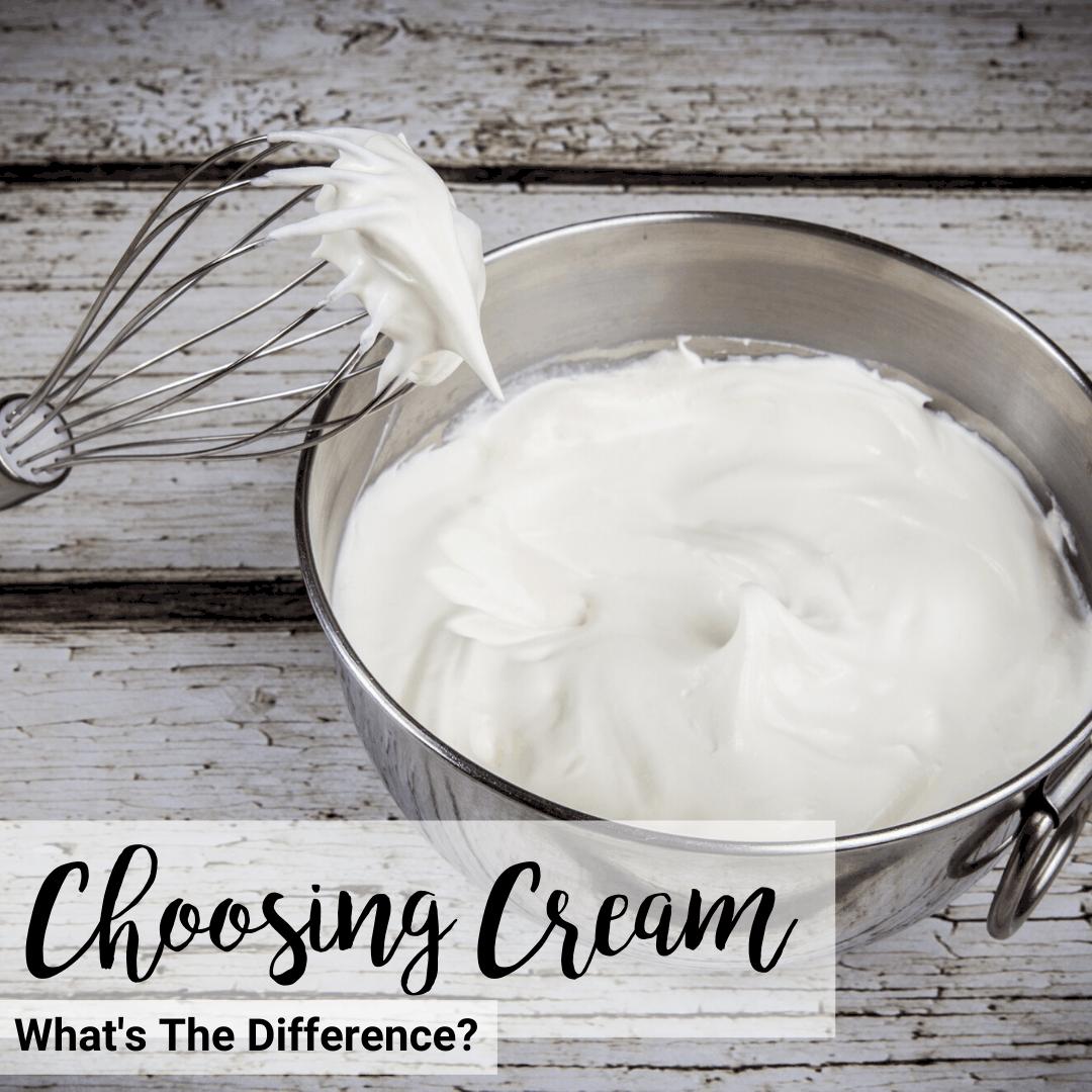heavy cream vs. whipping cream header image