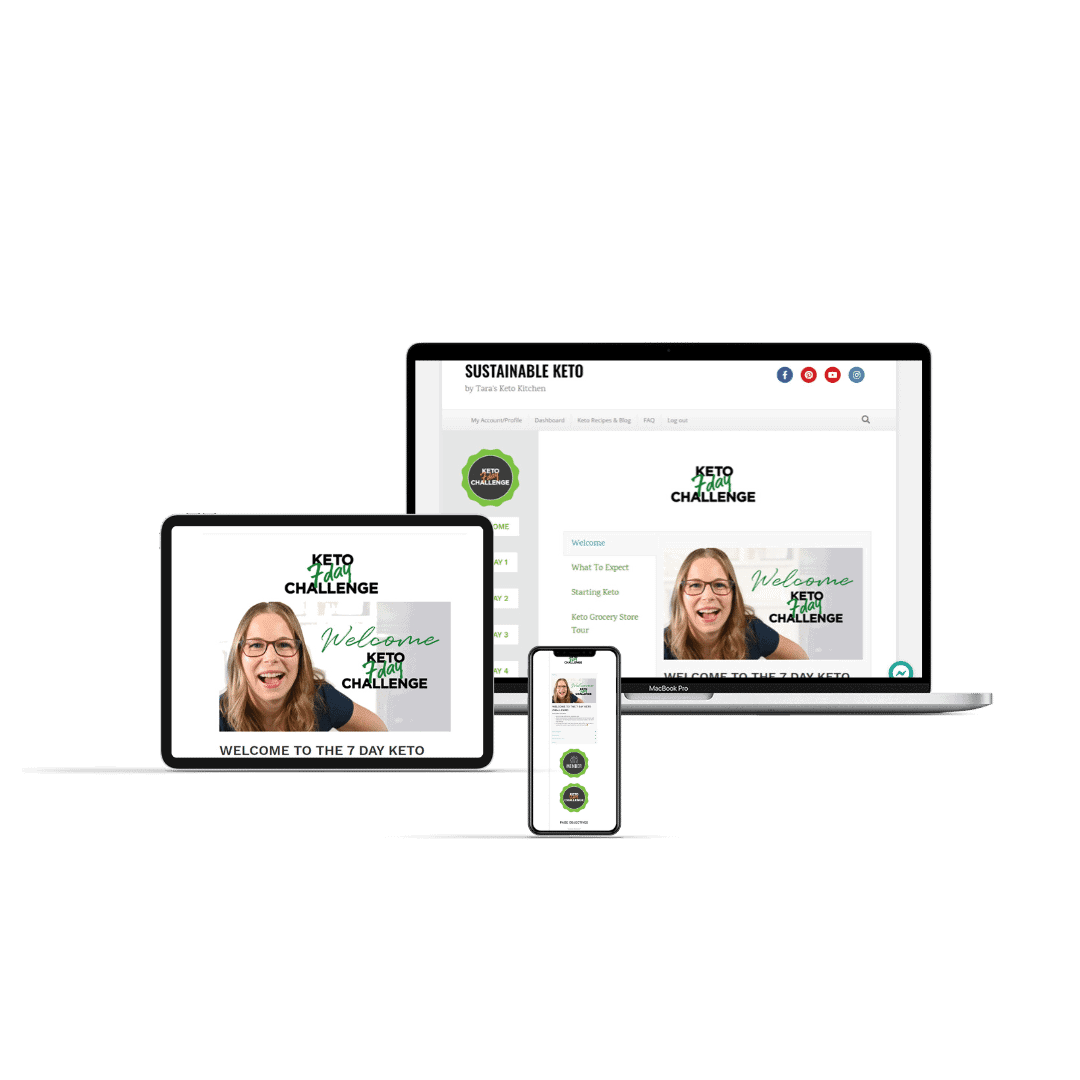 7 day hallenge shown on computer screen for keto diet success