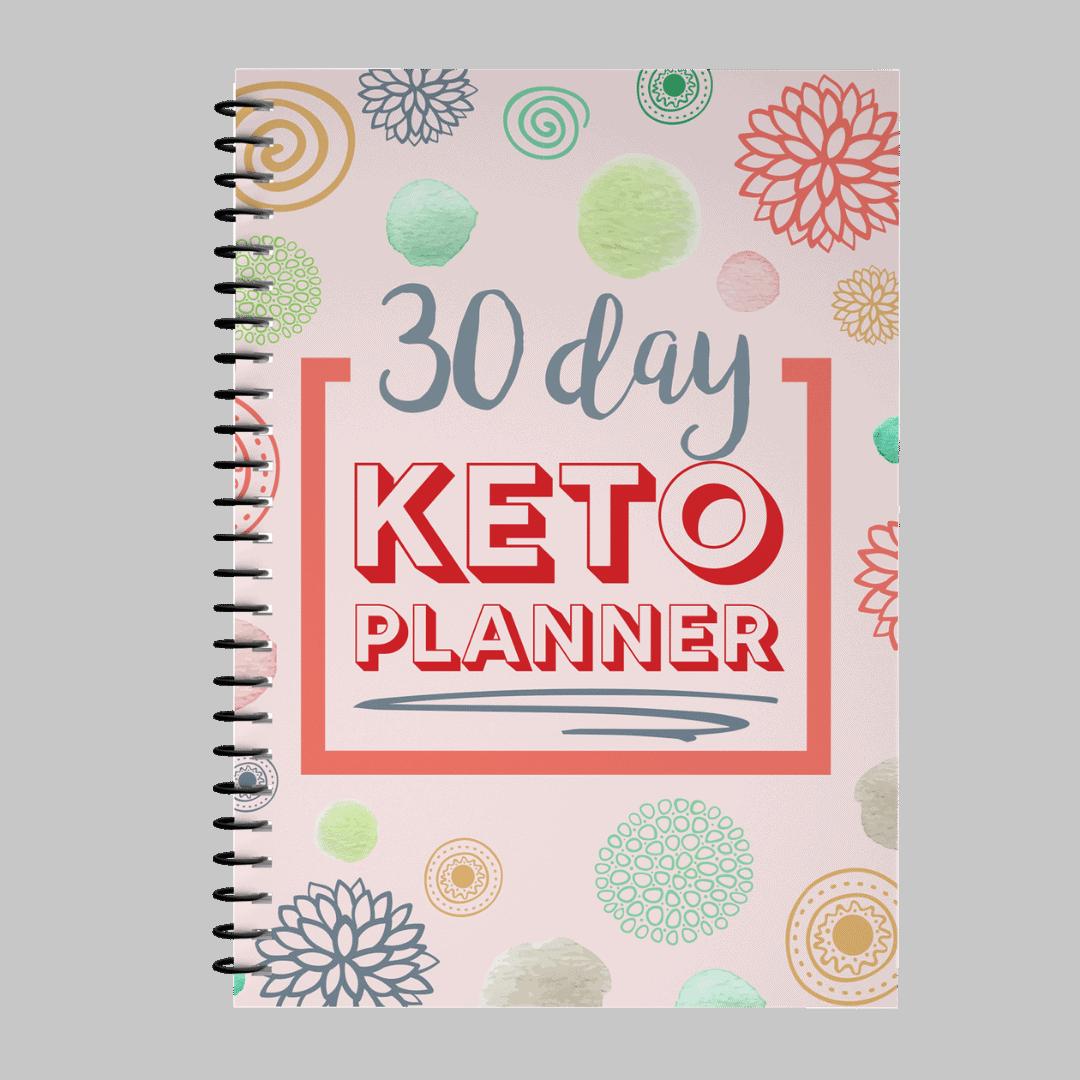30 Day Keto Planner Pink Mockup