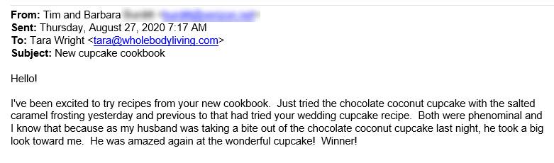 keto cupcake cookbook testimonial