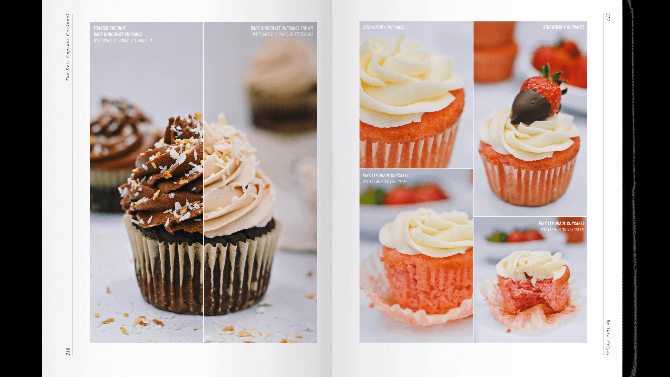 keto cupcake cookbook with chocolate cupcakes