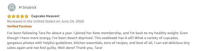 keto cupcake cookbook review marisa