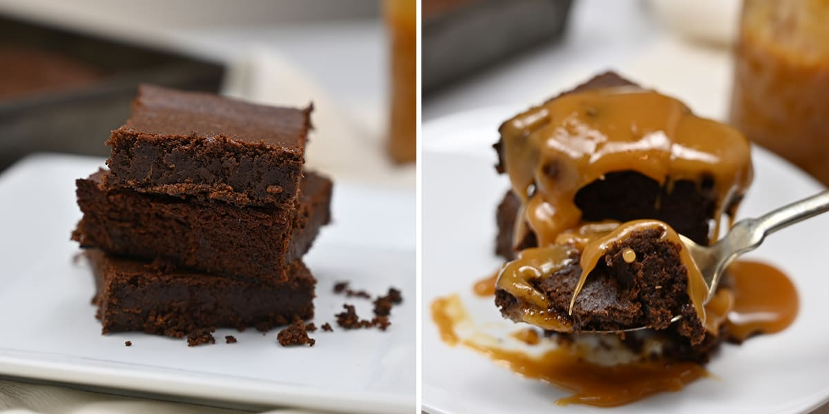Fudgy Keto Brownies grid images of two