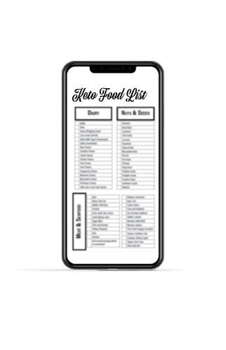 free keto food list on iphone