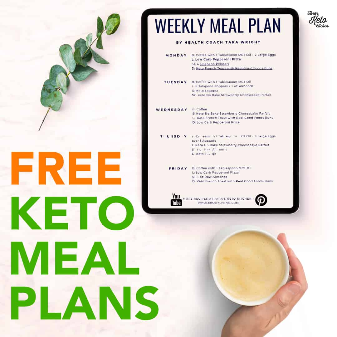 free keto meal plan featured image