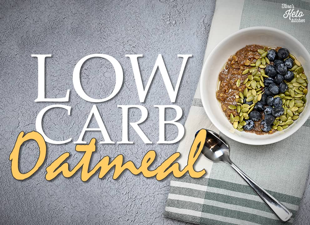 Low Carb Oatmeal in a bowl