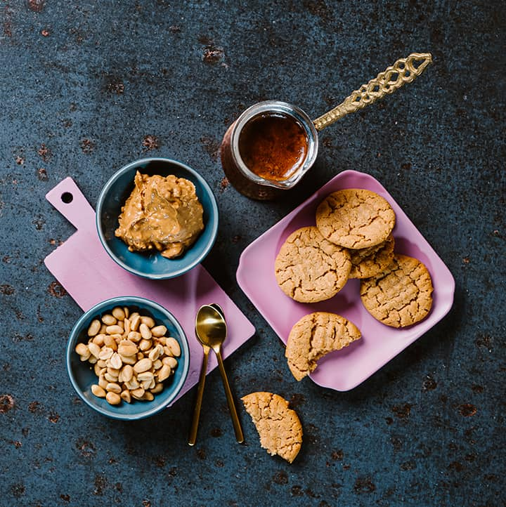 top view of Keto Peanut Butter Cookies