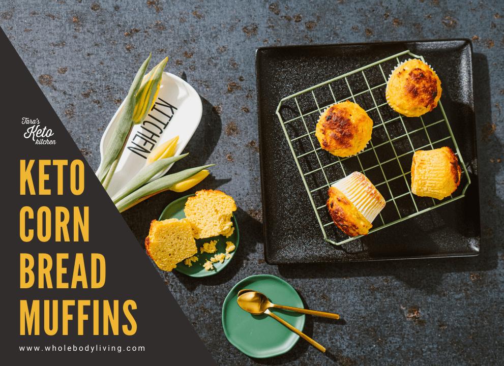 Keto Corn Bread Muffins title